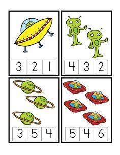 Preschool Printables: Space - patterns/math