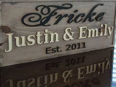 Wooden Sign Personalized CARVED Family Name Sign Last name sign Custom Wedding sign Gift Established Date Anniversary Couples Wooden Plaque Last Name Signs, Family Name Signs, Custom Wooden Signs, Name Plaques, Wedding Signs, Wedding Plaques, Personalized Signs, Home Signs, Love And Marriage