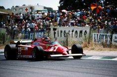 Gilles Villeneuve (CAN) (Scuderia Ferrari), Ferrari 126CK - Ferrari V6 (finished 1st)  1981 Spanish Grand Prix, Circuito Permanente Del Jarama