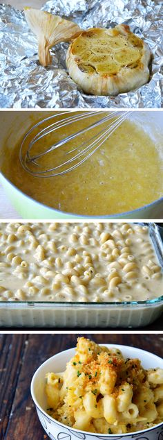Roasted Garlic Macaroni and Cheese #recipe
