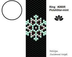 peyote ring pattern,PDF-Download, #260R, beading pattern, beading tutorials, ring pattern