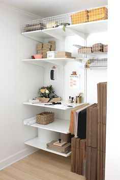 12 Etsy Shipping Station Tips & Ideas {Etsy Business Shipping Station for Etsy Sellers - EverythingEtsy Ikea Office, Home Office Space, Home Office Design, Home Office Decor, Home Decor, Closet Office, Office Chairs, Cubbies, Office Inspo