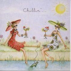 Chillin Berni Parker Designs Card  £2.75 - FREE Postage!