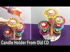 How to Make Candle Holder From Old CD
