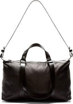 CoSTUME NATIONAL | Grained Leather Duffle Bag.