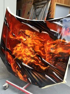 Airbrushed Eagle Hood - Painted by Mike Lavallee of Killer Paint - www.killerpaint.com