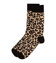 Brown leopard print socks £3.00