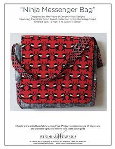Ninja Messenger Bag by Kim Place