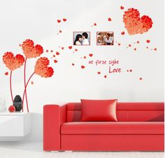Buy now 7176E Free Shipping DIY Wall Art Decal Decoration Orange Love Grass Frame Wall Stickers Home Decor 3D Wallpaper for living room just only $3.84 with free shipping worldwide  #wallstickers Plese click on picture to see our special price for you