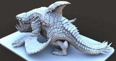 heavy Dragon 3D Art by keita okada – zbrushtuts