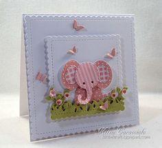 Splitcoaststampers FOOGallery - FS490 Patchwork Baby Elephant