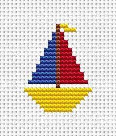 Yacht hama perler beads pattern