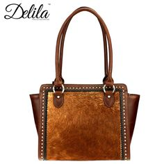 Montana West Delila Collection 100% Genuine Leather Hair-On Hide Satchel (LEA-6019) – Handbag-Addict.com