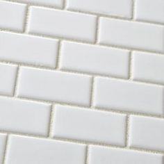 Merola Tile Metro Subway Glossy White 11-3/4 in. x 11-3/4 in. Porcelain Mesh-Mounted Mosaic Tile-FXLMSSW at The Home Depot