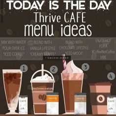THRIVE by Le-Vel: The health & wellness movement, Thrive Experience Cafe Menu, Cafe Food, Get Healthy, Healthy Life, Healthy Eats, Healthy Living, Thrive Shake Recipes, Thrive Life, Level Thrive