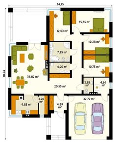 Tuscan House Plans, Indian House Plans, House Floor Plans, Indian Homes, Small House Design, Home Design Plans, Building Plans, Home Projects, Modern Architecture