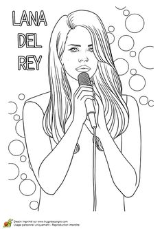 1000 images about c o l o r i n g on pinterest dover - Coloriage chanteuse ...