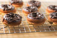 Baked Banana and Chocolate Doughnuts