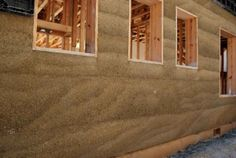 Greener Concrete Through Low-Tech and Hi-Tech Methods - Hemp, rice husk, fly ash and blast furnace slag being used in construction. Natural Building, Green Building, Building A House, Adobe, Eco Buildings, Tadelakt, Passive House, Earth Homes, Earthship