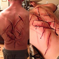 scars from his back that his father did when he found out his moments with James Dress Makeup, Costume Makeup, Halloween Makeup, Halloween Cosplay, Ero Guro, Movie Makeup, Horror Makeup, Theatre Makeup, Special Effects Makeup