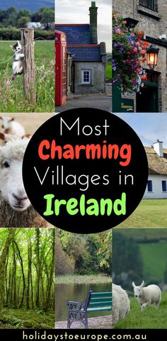 5 Charming Villages to Visit in Ireland. Include the cute Irish villages in this guide to plan your Ireland vacation. Whether you prefer to do an Ireland road trip or join an organised tour, these cute villages will be one of the highlights of your trip. Click to read more. #Ireland #travel #CIETours #CIEToursOz