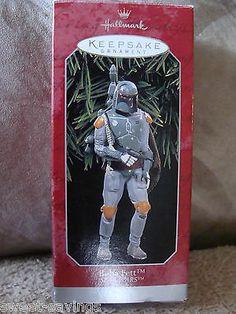 Hallmark Keepsake 1998 Boba Fett Star Wars CHRISTMAS Ornament in Original BOX