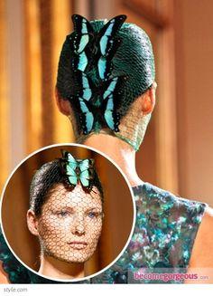 Hairstyle from Giambattista Valli Couture 2012