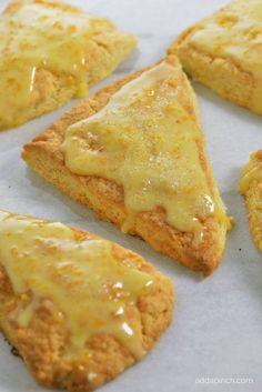 Citrus Scones Recipe with Orange Glaze