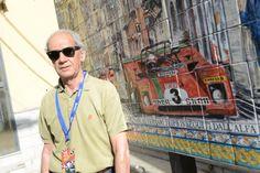 #tgcup #targaflorio tgReplica #topgear - Sandro Munari davanti alla raffigurazione a lui dedicata