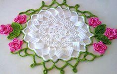Tecendo Artes em Crochet: Centro de mesa Primavera