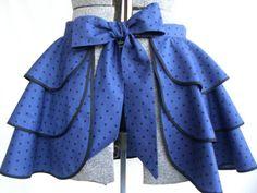 Womens Sassy/Retro Half Apron 3 tier skirt by MommaBearsApronsMore, $25.00