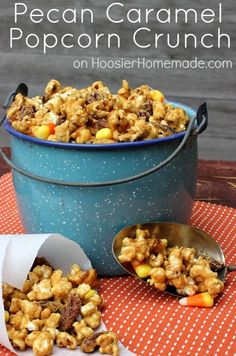 Pecan Caramel Popcorn Crunch. Can't wait to make this with Diamond Pecans this fall!