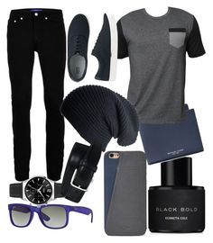 """""""my #2 men outfit!!!"""" by sirean on Polyvore featuring Kenneth Cole, Michael Kors, Billabong, Topman, Black, Ray-Ban, Uniqlo, FOSSIL, Tod's and men's fashion"""