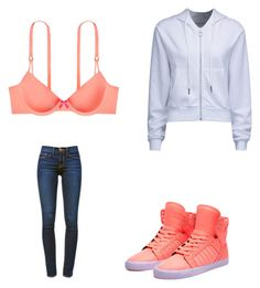 """""""🤗"""" by melodyleighmitchell on Polyvore featuring Victoria's Secret, Frame Denim, Supra and WithChic"""