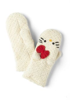 Crochet Hello for Me Mittens, #ModCloth $35