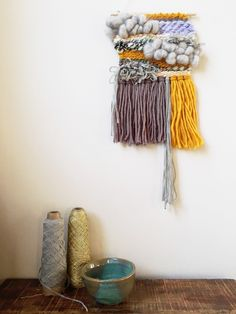 Wall hanging | weaving | home decor | Little Lee by ROVINGTEXTILES on Etsy https://www.etsy.com/listing/250073059/wall-hanging-weaving-home-decor-little