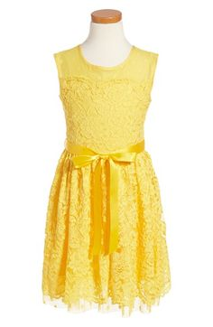 BLUSH by Us Angels Floral Lace Dress (Big Girls) available at #Nordstrom