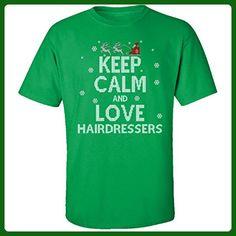 Keep Calm And Love Hairdressers Jobs Ugly Christmas Sweater - Adult Shirt - Holiday and seasonal shirts (*Amazon Partner-Link)