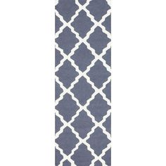 Trellis Blue Grey 2 ft. 6 in. x 8 ft. Rug Runner