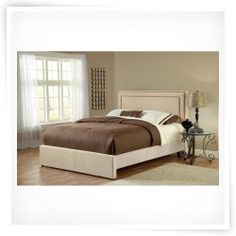 Amber Upholstered Low Profile Bed - Buckwheat