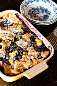 Blueberry Salted Caramel French Toast Casserole from http://ReluctantEntertainer.com