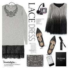"""""""Pretty Lace Dress"""" by helenevlacho ❤ liked on Polyvore featuring Clu, Chicwish, Loeffler Randall, Bar III, Alexander McQueen, Bobbi Brown Cosmetics, Victoria's Secret, lacedress and contestentry"""