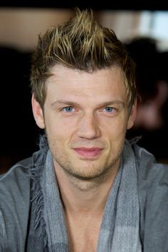 Nick Carter - Backstreet Boys Pose in Madrid