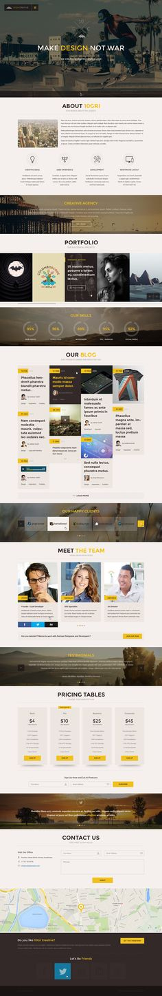 105GriCreative - OnePage PSD HTML5 Theme  #html5templates #psdtemplates