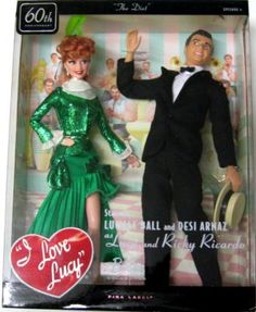 Lucy and Ricky Lucille Ball, Lucy And Ricky, Lucy Lucy, Celebrity Barbie Dolls, I Love Lucy Show, Desi Arnaz, Mattel Dolls, Beautiful Barbie Dolls, Barbie Collection