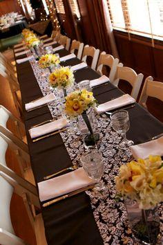 Robert's Wedding table setting at Scotia Inn.