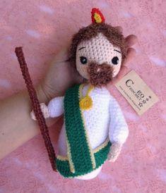 Patrono de las causas dificiles y desesperadas Crochet Necklace, Christmas Ornaments, Holiday Decor, Amigurumi Doll, Baby Dolls, Craft, Saints, Amor, Crocheting
