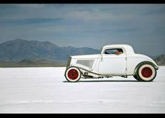 32 Ford on the salt flats.