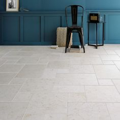 Apricia Light Tumbled Limestone within a living area setting.