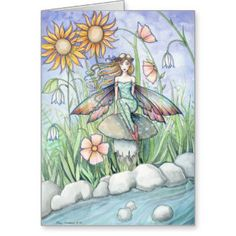 Lovely Flower Fairy Art Card by Molly Harrison